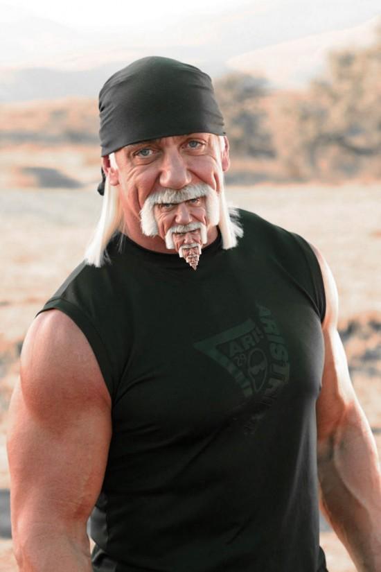 La moustache de Hulk Hogan X3 !