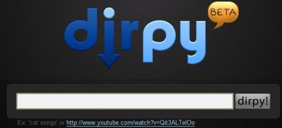 Dirpy, Recuperer une musique de youtube