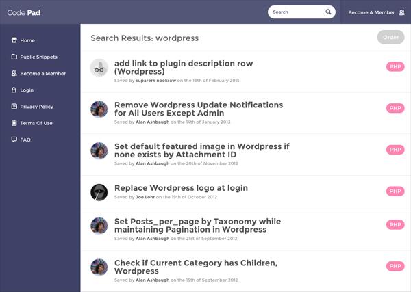 Recherche sur des fonctionnalités WordPress