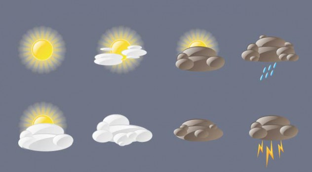 Vector Weather icons Free Download