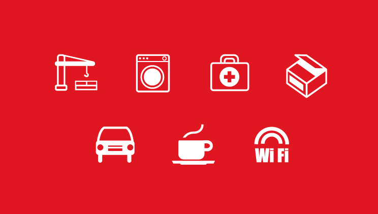 vector monocolor icons EPS