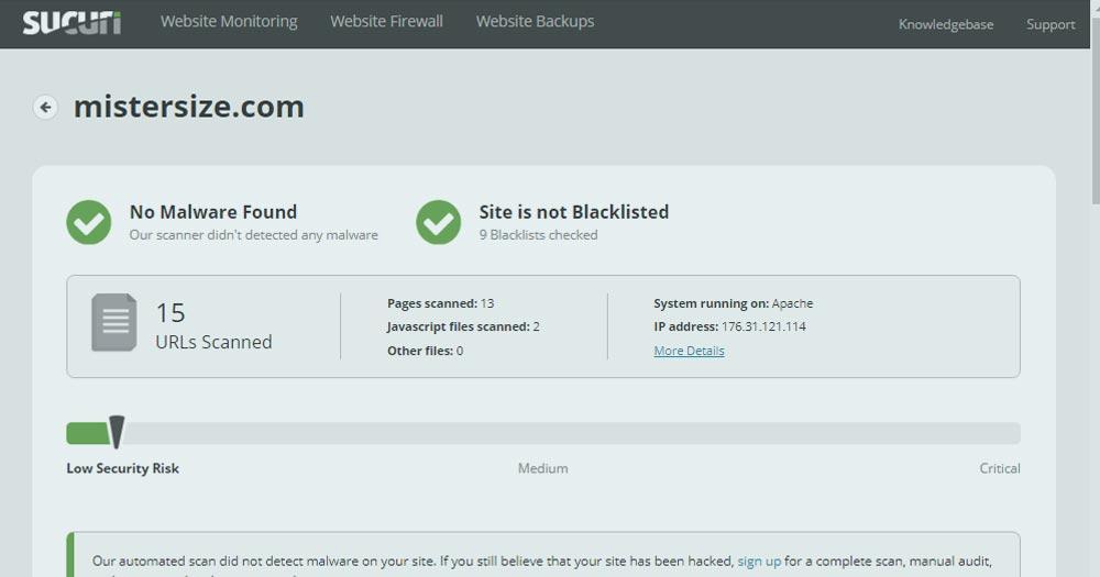 Securité Web : Sucuri un outil pour scanner son site