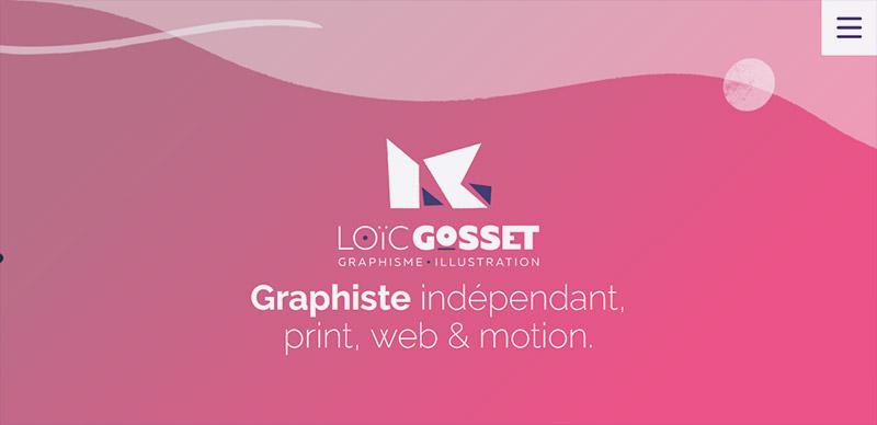 Loïc Gosset, Graphiste à Rennes