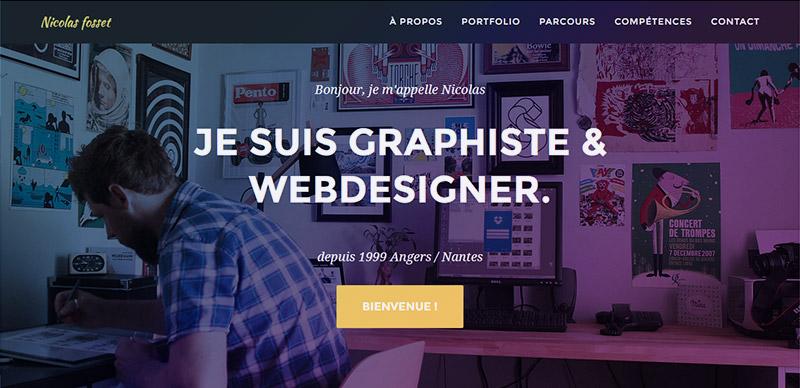 Nicolas Fosset, Webdesigner à Nantes