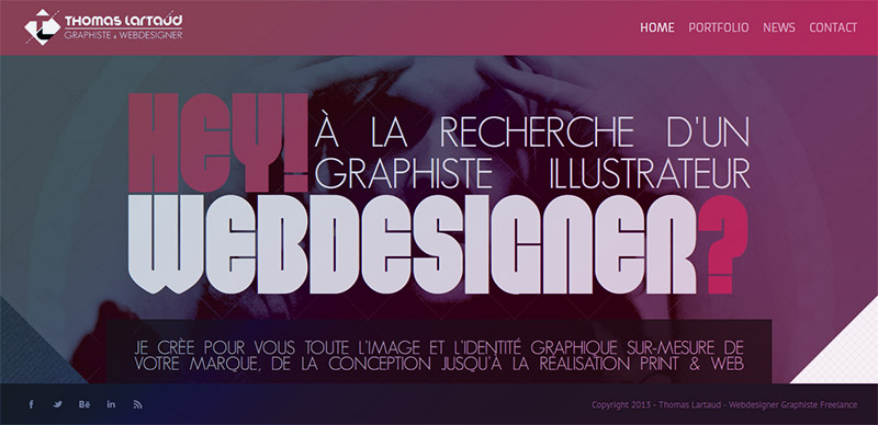 Thomas Lartaud, Graphiste Webdesigner à Lyon